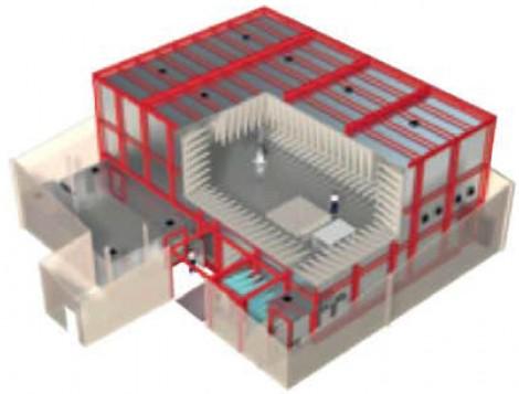 Frankonia SAC-10 - Безэховые камеры для расстояния измерения 10,0 м