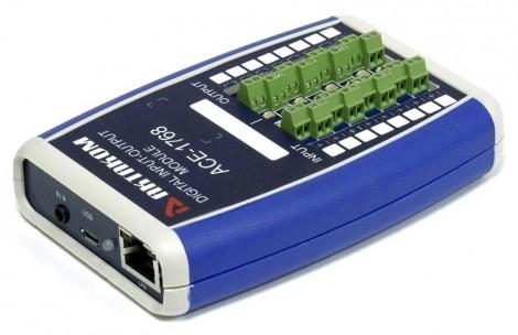АСЕ-1768 - USB/LAN модуль дискретного ввода-вывода 8-канальный, Актаком