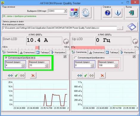 APQT - Программное обеспечение для токовых клещей, Актаком
