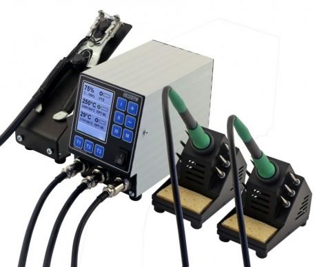 НеоТерм-3Т - Трехканальная паяльная станция 220В/(36В) без инструмента