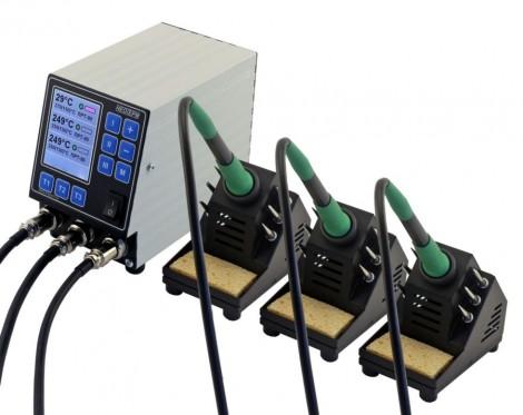 НеоТерм-3С - Трехканальная паяльная станция 220В/(36В) без инструмента