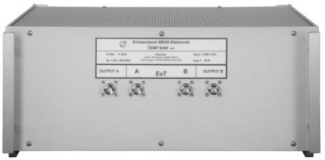 TEMP 8400 - Эквивалент сети со стабилизацией полного сопротивления линии, Schwarzbeck